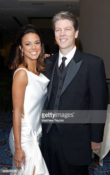 Actress Eva La Rue and boyfriend Musician Clay Oswald arrives at the 31st Annual Creative Craft Daytime Emmy Awards at the Marriott Marquis May 15...