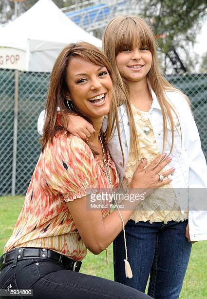 Actress Eva La Rue and daughter Kaya McKenna Callahan arrive at the 22nd Annual Time for Heroes Celebrity Picnic sponsored by Disney to benefit the...