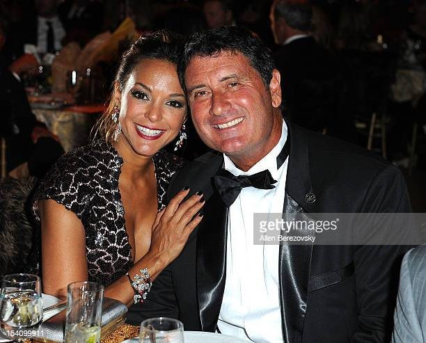 "Actress Eva La Rue and husband Joe Cappuccio attend the Beckstrand Cancer Foundation's 9th annual Diamond & Pearl Ball - ""An Evening in Russia"" at..."