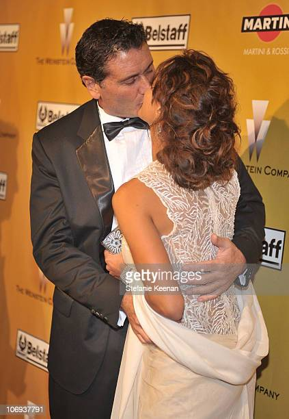 Actress Eva La Rue and Joe Capuccio arrive at the Weinstein Company Golden Globes after party cohosted by Martini held at BAR 210 at The Beverly...