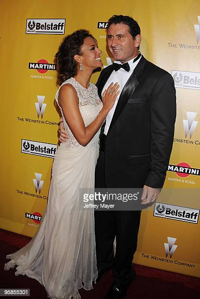 Actress Eva La Rue and Joe Capuccio arrive at The Weinstein Company 2010 Golden Globe After Party at The Beverly Hilton Hotel on January 17 2010 in...