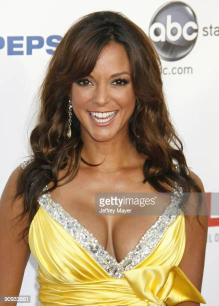 Actress Eva La Rue arrives at the 2009 ALMA Awards at Royce Hall on the UCLA Campus on September 17 2009 in Westwood Los Angeles California