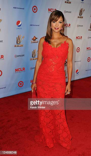 Actress Eva La Rue arrives at the 2011 NCLR ALMA Awards held at Santa Monica Civic Auditorium on September 10 2011 in Santa Monica California