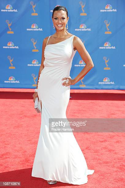 Actress Eva La Rue arrives at the 62nd Annual Primetime Emmy Awards held at the Nokia Theatre LA Live on August 29 2010 in Los Angeles California