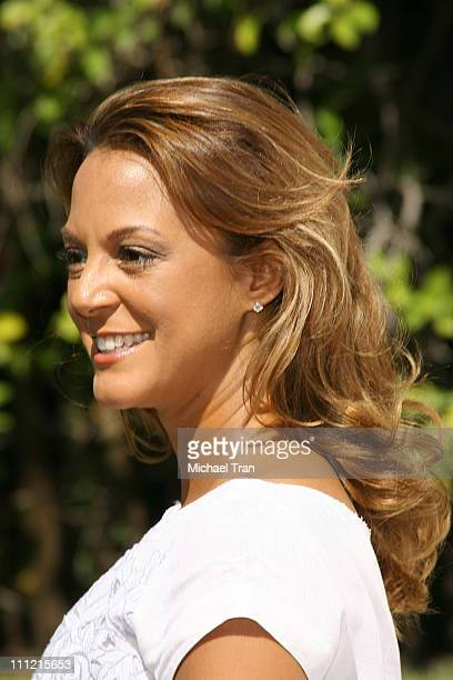 Actress Eva La Rue arrives at the BAFTA/LA 5th Annual Tea Party at Wattles Mansion on September 15 2007 in Hollywood California