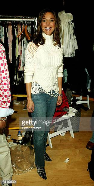 Actress Eva la Rue attends the Tommy Hilfiger H Collection fashion show on March 18, 2004 at Macy's Herald Square, in New York City.