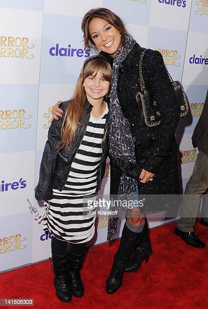 Actress Eva LaRue and daughter Kaya McKenna Callahan arrive at the Los Angeles Premiere Mirror Mirror at Grauman's Chinese Theatre on March 17 2012...