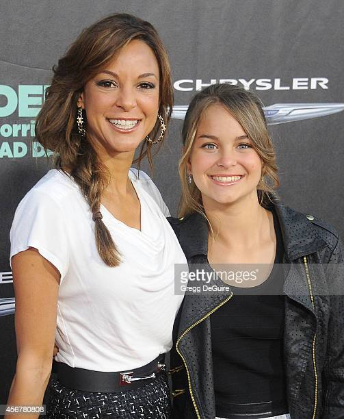 Actress Eva LaRue and daughter Kaya McKenna Callahan arrive at the Los Angeles premiere of Alexander And The Terrible Horrible No Good Very Bad Day...