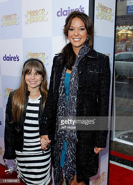 Actress Eva LaRue and daughter Kaya McKenna Callahan attend the Mirror Mirror premiere at Grauman's Chinese Theatre on March 17 2012 in Hollywood...