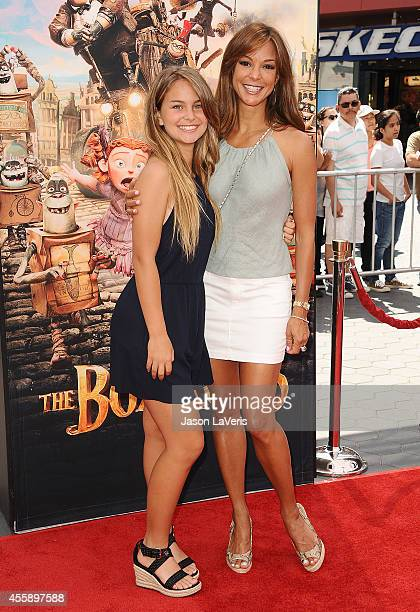 Actress Eva LaRue and daughter Kaya McKenna Callahan attend the premiere of The Boxtrolls at Universal CityWalk on September 21 2014 in Universal...