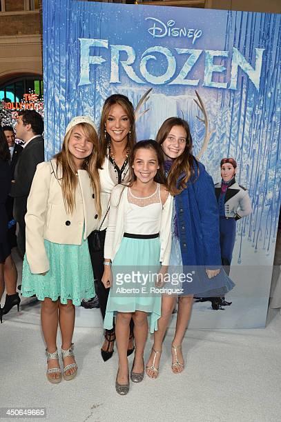 Actress Eva LaRue and family attend The World Premiere of Walt Disney Animation Studios' Frozen at El Capitan Theatre on November 19 2013 in Los...