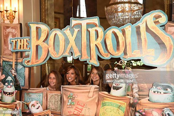 Actress Eva LaRue and her daughter Kaya McKenna Callahan attend the premiere of Focus Features' The Boxtrolls Red Carpet at Universal CityWalk on...