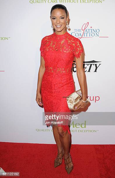 Actress Eva LaRue arrives at AltaMed Health Services' Power Up We Are The Future Gala at the Beverly Wilshire Four Seasons Hotel on May 12 2016 in...