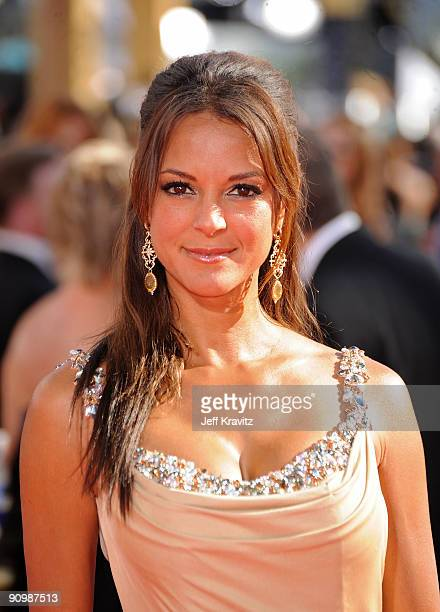 Actress Eva LaRue arrives at the 61st Primetime Emmy Awards held at the Nokia Theatre on September 20 2009 in Los Angeles California