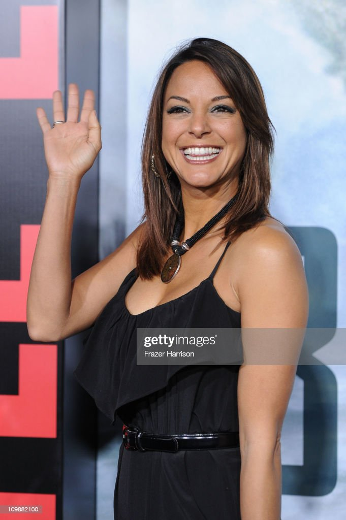 Actress Eva LaRue arrives at the premiere of Columbia Pictures' 'Battle: Los Angeles' at the Regency Village Theater on March 8, 2011 in Westwood, California.