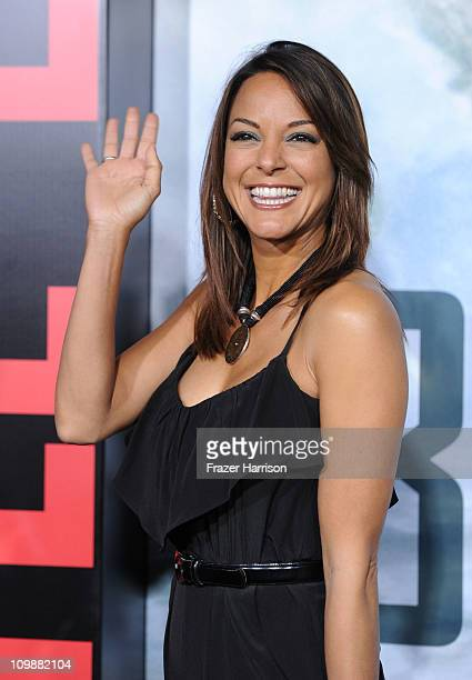 Actress Eva LaRue arrives at the premiere of Columbia Pictures' Battle Los Angeles at the Regency Village Theater on March 8 2011 in Westwood...