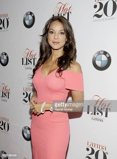 Actress Eva LaRue attends Latina's 20th Anniversary celebrating The Hollywood Hot List Honorees at STK on November 2 2016 in Los Angeles California