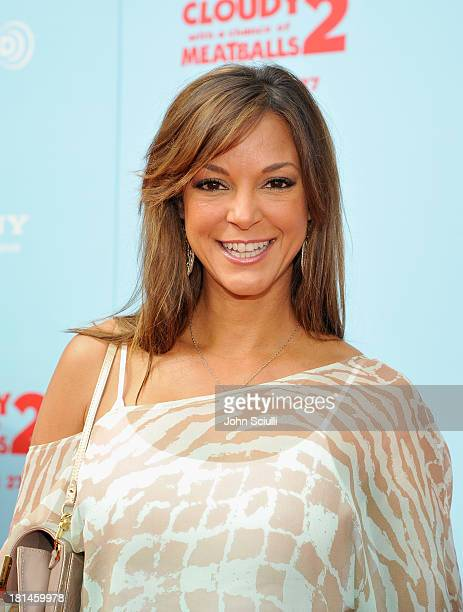 Actress Eva LaRue attends Premiere of Cloudy With A Chance Of Meatballs 2 presented by Sony Pictures Animation at Regency Village Theatre