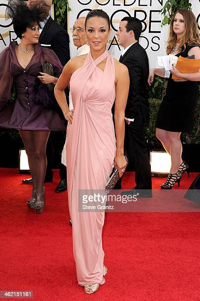 Actress Eva LaRue attends the 71st Annual Golden Globe Awards held at The Beverly Hilton Hotel on January 12 2014 in Beverly Hills California