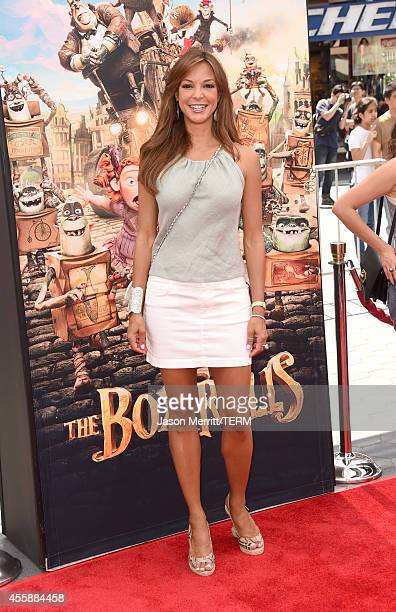 Actress Eva LaRue attends the premiere of Focus Features' The Boxtrolls Red Carpet at Universal CityWalk on September 21 2014 in Universal City...