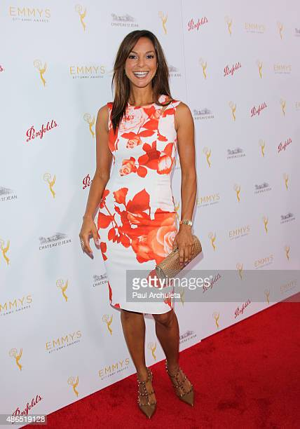 Actress Eva LaRue attends the Television Academy's cocktail reception to celebrate the 67th Emmy Awards at The Montage Beverly Hills on August 24...