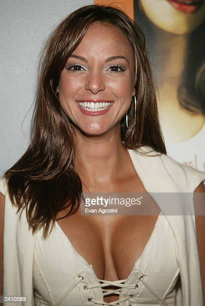 Actress Eva LaRue Callahan arrives at the New York premiere of Don't Tempt Me at the Loews Village Theater August 19 2003 in New York City