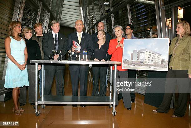 Actress Eva LaRue Executive Producer Ann Donahue actor David Caruso Los Angeles District Attorney Steve Cooley Los Angeles County Sheriff Lee Baca...