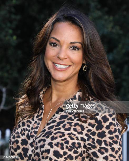 Actress Eva LaRue visits Hallmark's Home Family at Universal Studios Hollywood on January 24 2019 in Universal City California