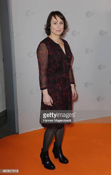 Actress Eva Loebau attends the premiere of the film 'Der Clan Die Geschichte der Familie Wagner' at Gloria Palast on January 15 2014 in Munich Germany