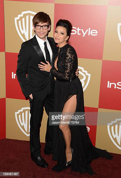 Actress Eva Longoria and guest attend the 14th Annual Warner Bros And InStyle Golden Globe Awards After Party held at the Oasis Courtyard at the...