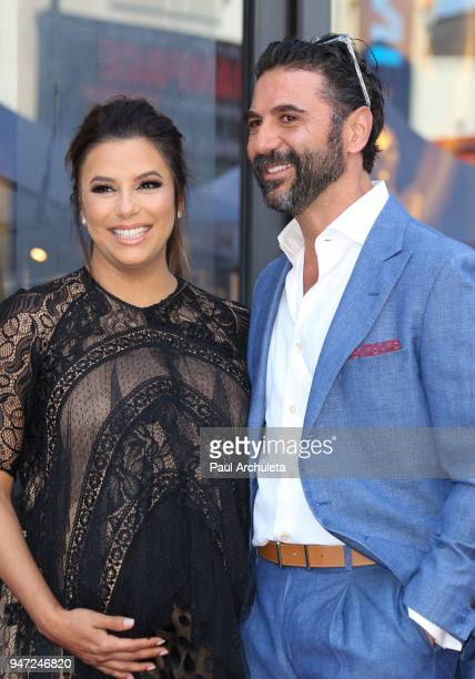 Actress Eva Longoria and her Husband Jose Baston attend the ceremony to honor Eva Longoria with a Star on The Hollywood Walk Of Fame on April 16 2018...