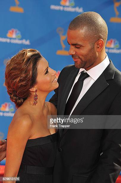 Actress Eva Longoria and husband Tony Parker arrive at the 62nd Annual Primetime Emmy Awards held at the JW Marriott Los Angeles at LA Live