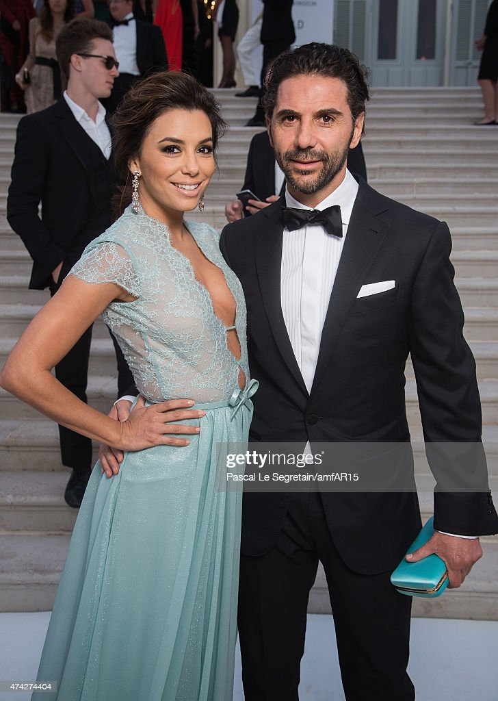 Actress Eva Longoria and Jose Antonio Baston attend amfAR's 22nd Cinema Against AIDS Gala, Presented By Bold Films And Harry Winston at Hotel du Cap-Eden-Roc on May 21, 2015 in Cap d'Antibes, France.