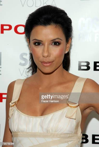 Actress Eva Longoria arrives at a party for Cosmopolitan and Bebe to celebrate her as the New Face of Bebe Sport held at the Skybar at the Mondrian...