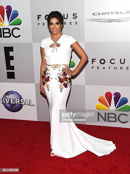 Actress Eva Longoria arrives at NBCUniversal's 73rd Annual Golden Globes After Party at The Beverly Hilton Hotel on January 10 2016 in Beverly Hills...