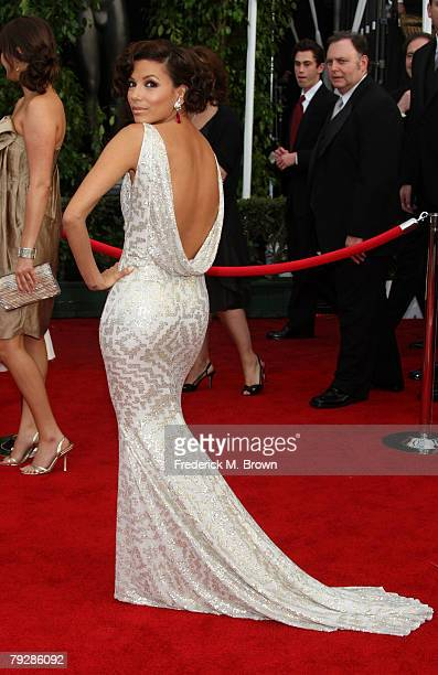 ACtress Eva Longoria arrives at the 14th annual Screen Actors Guild awards held at the Shrine Auditorium on January 27 2008 in Los Angeles California
