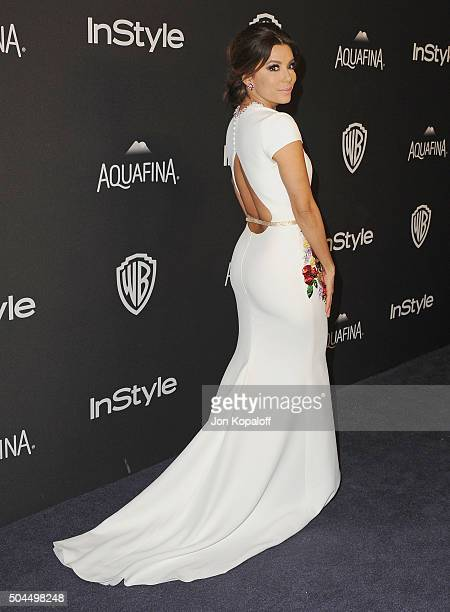 Actress Eva Longoria arrives at the 2016 InStyle And Warner Bros. 73rd Annual Golden Globe Awards Post-Party at The Beverly Hilton Hotel on January...