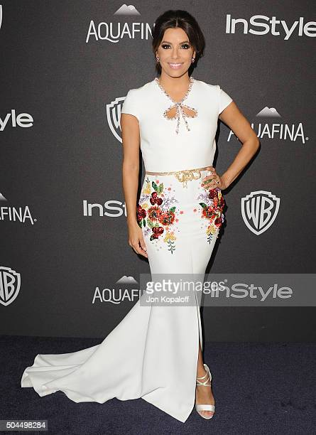 Actress Eva Longoria arrives at the 2016 InStyle And Warner Bros 73rd Annual Golden Globe Awards PostParty at The Beverly Hilton Hotel on January 10...