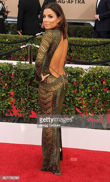 Actress Eva Longoria arrives at the 22nd Annual Screen Actors Guild Awards at The Shrine Auditorium on January 30 2016 in Los Angeles California