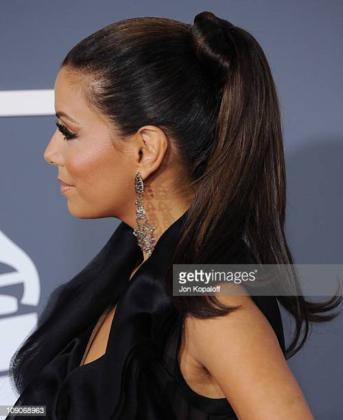 Actress Eva Longoria arrives at The 53rd Annual GRAMMY Awards at Staples Center on February 13 2011 in Los Angeles California