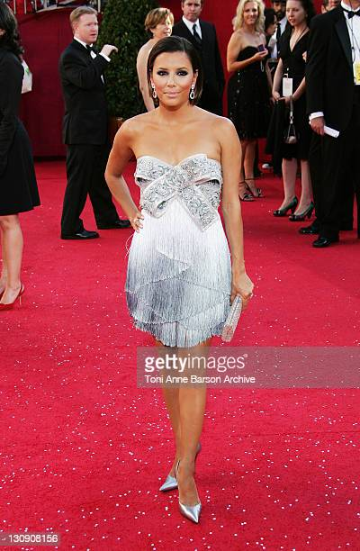 Actress Eva Longoria arrives at the 60th Primetime Emmy Awards at the Nokia Theater on September 21 2008 in Los Angeles California