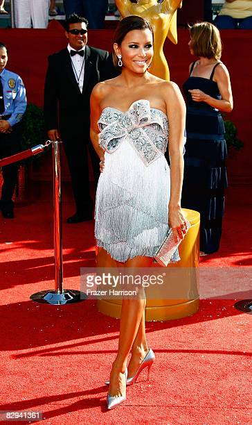 Actress Eva Longoria arrives at the 60th Primetime Emmy Awards held at Nokia Theatre on September 21 2008 in Los Angeles California