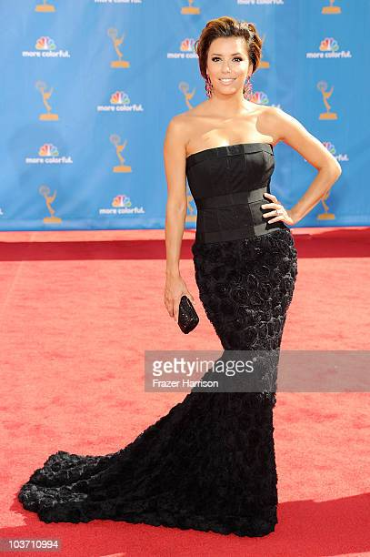 Actress Eva Longoria arrives at the 62nd Annual Primetime Emmy Awards held at the Nokia Theatre LA Live on August 29 2010 in Los Angeles California
