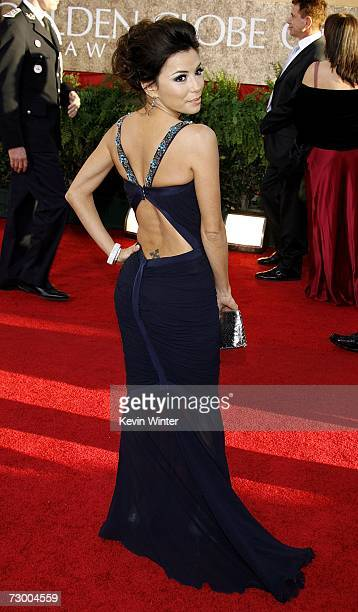 Actress Eva Longoria arrives at the 64th Annual Golden Globe Awards at the Beverly Hilton on January 15, 2007 in Beverly Hills, California.