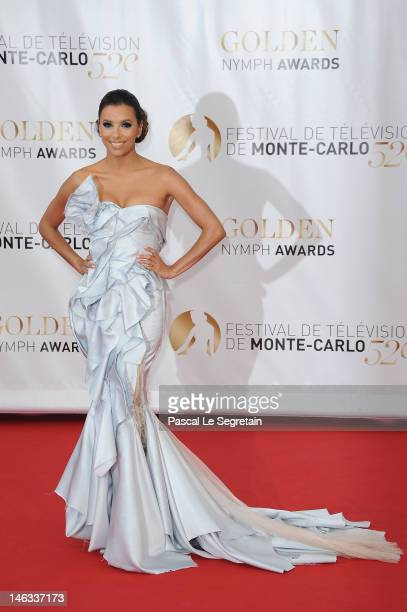 Actress Eva Longoria arrives at the Closing Ceremony of the 52nd Monte Carlo TV Festival on June 14 2012 in MonteCarlo Monaco