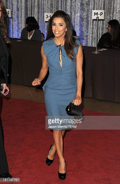 Actress Eva Longoria arrives at The Fulfillment Fund's 2011 Stars Gala held at The Beverly Hilton Hotel on November 1 2011 in Beverly Hills California