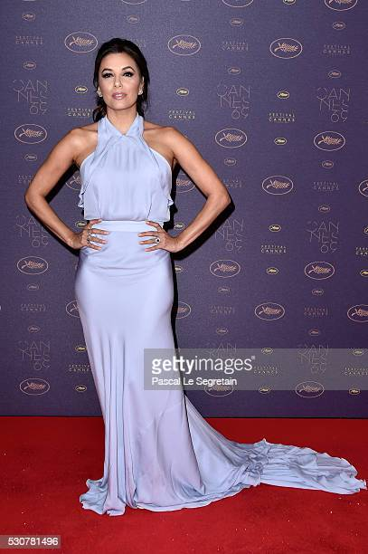 Actress Eva Longoria arrives at the Opening Gala Dinner during The 69th Annual Cannes Film Festival on May 11 2016 in Cannes France