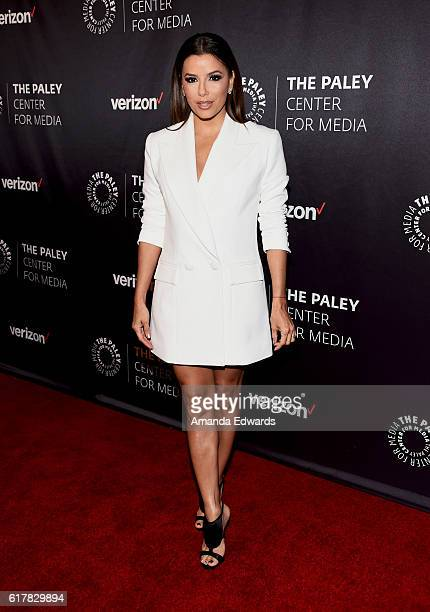 Actress Eva Longoria arrives at The Paley Center for Media's Hollywood Tribute to Hispanic Achievements in Television event at the Beverly Wilshire...