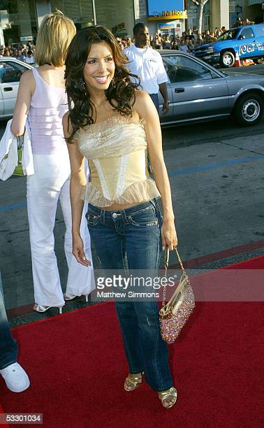 Actress Eva Longoria arrives at the Premiere Of The Dukes of Hazzard at the Grauman's Chinese Theatre on July 28 2005 in Hollywood California