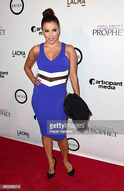 Actress Eva Longoria arrives at the Screening of GKIDS' 'Kahlil Gibran's The Prophet' at Bing Theatre At LACMA on July 29 2015 in Los Angeles...